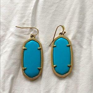 Kendra Scott Turquoise Dangly Earrings